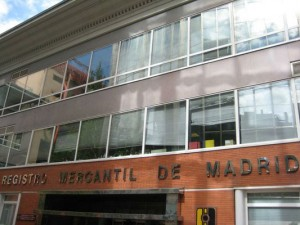 Registro Mercantil de Madrid.