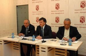 Gonzalo Santonja, Emilio Lázaro y Francisco Vázquez