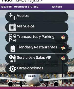 Lanzan una aplicación para móviles con información de vuelos en tiempo real y servicios a pasajeros