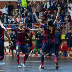 El FC Barcelona Alusport, ganador de la Copa de Europa.