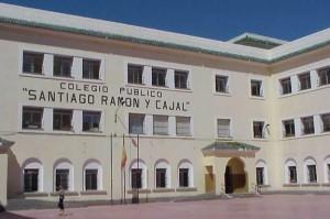 Fachada del CEIP Ramón y Cajal de Ceuta.