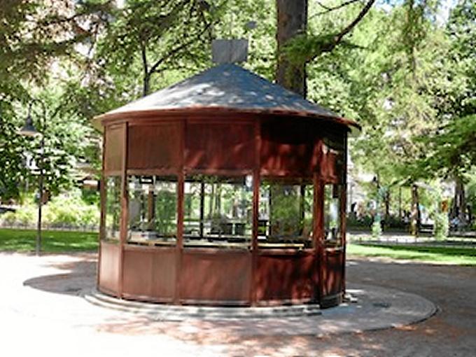 La pajarera del Parque del Carmen, en Logroño.