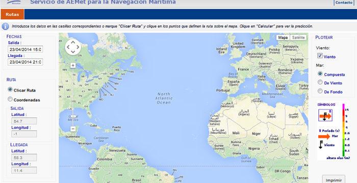 La Aemet lanza una herramienta para conocer las condiciones meteorológicas en alta mar y la costa
