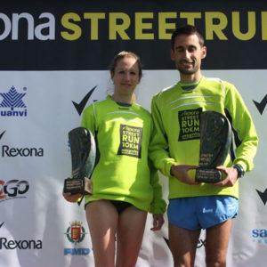 Estela Navascués y Pablo Rodríguez, ganadores de la competición.