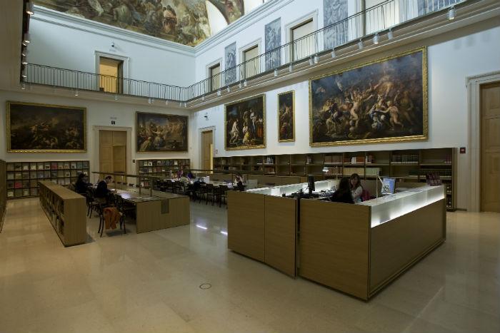 Sala de lectura del Museo del Prado