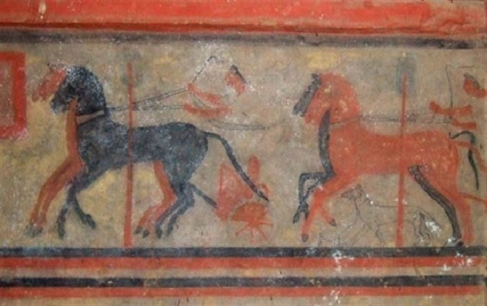 Investigadores del CSIC analizan el deterioro de las pinturas murales de dos tumbas etruscas