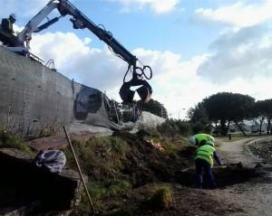 Reparación de la senda A Toxa, en Pontevedra. / Foto: Magrama