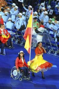 Abanderada de España durante las Paralimpiadas de Londres 2012.