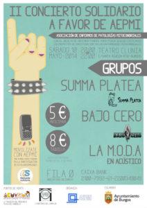 Cartel del II Concierto Solidario.