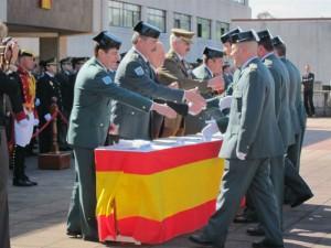 Ceremonia de homenaje en el acuertalamiento de El Rubín (Oviedo).