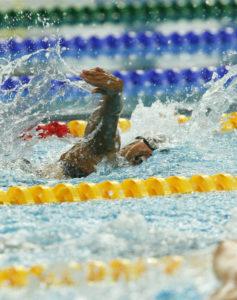 Final de 50 metros libres en los Juegos Paralímpicos de Pekín en 2008.