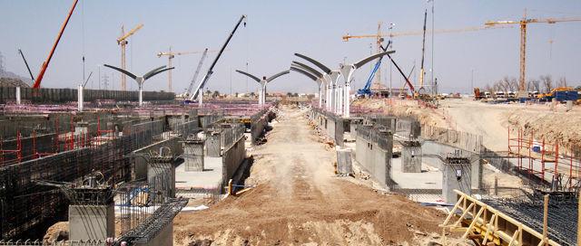 Obras de la construcción del AVE Medina-La Meca.