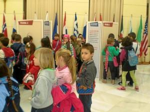 Algunos de los pequeños que han participado en la iniciativa de Manos Unidas.