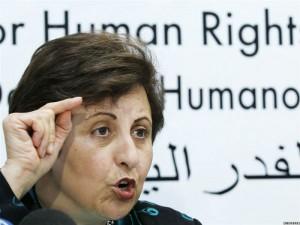 La Premio Nobel de la Paz Shirin Ebadi.