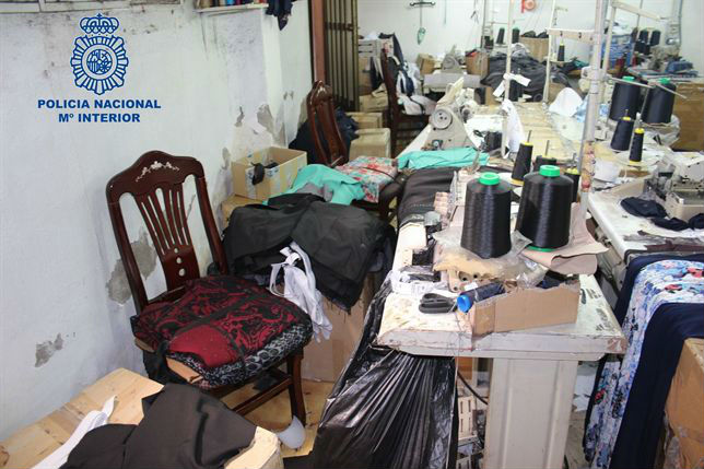 Taller textil donde explotaban a los trabajadores