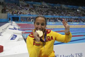 Teresa Perales en los Juegos Paralímpicos de Londres 2012.