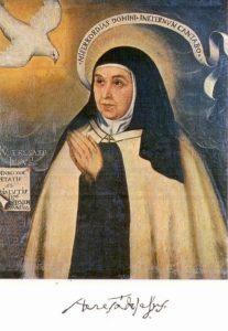 Santa Teresa en una copia de un original de Fray Juan de la Miseria. / Foto: www.wikipedia.org.