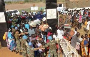 Tropas de cascos azules en la Misión en Sudán del Sur (UNMISS).