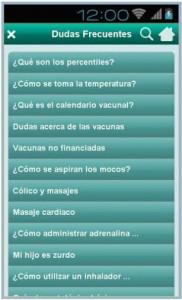 Aplicación 'Urgencias Infantiles Castilla y León'.