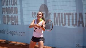 La joven ganadora Ángela Juárez. / Foto: Open Madrid Mutua