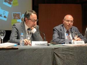 El director y el gerente de L'Auditori de Barcelona, Joaquim Garrigosa y Valentí Oviedo.