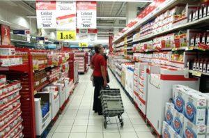 Las ventas de los productos alimenticios crecieron un 0,5% en abril en tasa interanual.