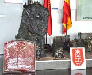 La estatua de Bécquer recuperada.
