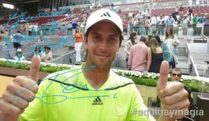El tenista Fernando Verdasco en el Open de Madrid. / Foto: Twitter Mutua Madrid Open