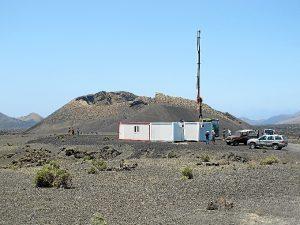 El lugar del rodaje en Lanzarote.