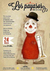 Cartel del espectáculo 'Los payasos'.