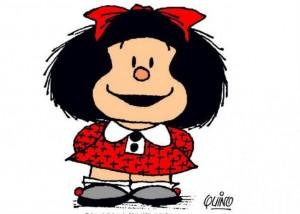 El personaje más conocido de Quino, la pequeña Mafalda.