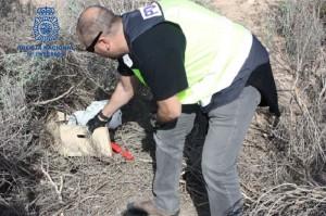La policía ha encontrado varias cajas fuertes y registradoras fracturadas, entre otros materiales.