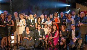 Foto de familia de los premiados. / Foto: Sgae.