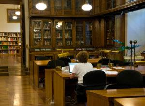 Sala Cervantes de la Biblioteca Nacional.