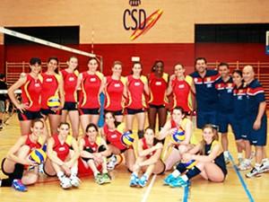 La selección femenina de voleibol. / Foto: www.rfevb.com