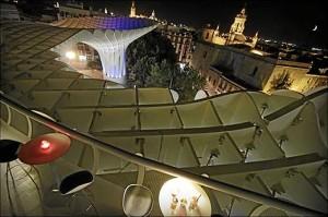 Vista de Sevilla desde las Setas de la Encarnación.