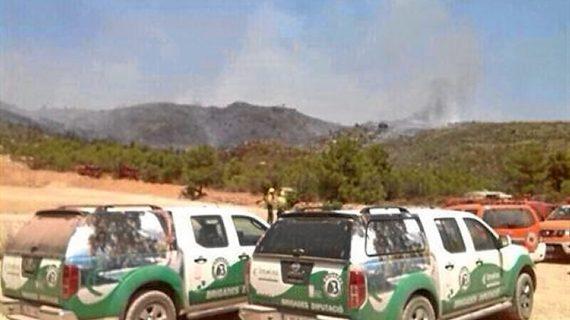 Controlado el incendio desatado en el municipio valenciano de Marines