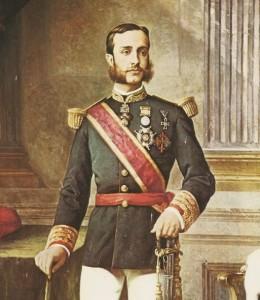 El monarca Alfonso XII.