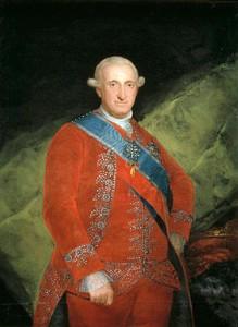 El monarca Carlos IV.