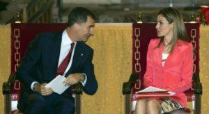 El Príncipe Felipe y la Princesa Doña Leticia.