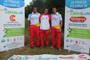 Los tres ganadores, contentos tras el resultado. / Foto: RFEP