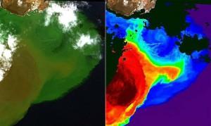 Las imagenes de los satélites siguen la evolucion del volcan de El Hierro