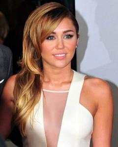 La cantante y actriz Miley Cyrus.