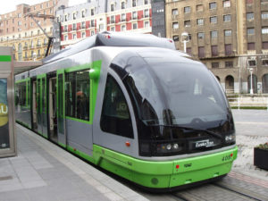 Tranvía de Bilbao.