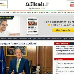 Le Monde le dedica la portada.