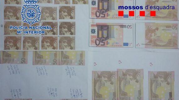 Desarticulado un grupo especializado en confeccionar billetes falsos de 50 euros en Algete