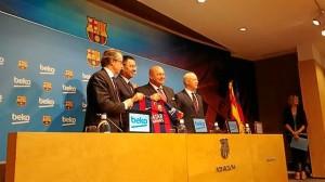 Presentación del nuevo patrocinador del FC Barcelona.