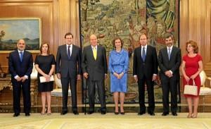 Sus Majestades instantes antes del almuerzo. / Foto: Casa Real / Borja Fotógrafos.