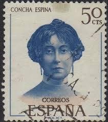 Un sello dedicado a Concha Espina. / Foto: www.castrillodelospolvazares.net