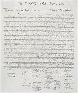 Declaración de Independencia de los Estados Unidos. / Foto: wikipedia